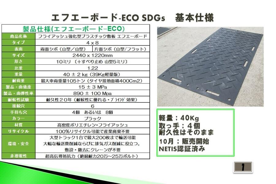 エフエーボード・ECOはSDGs適合製品です。
