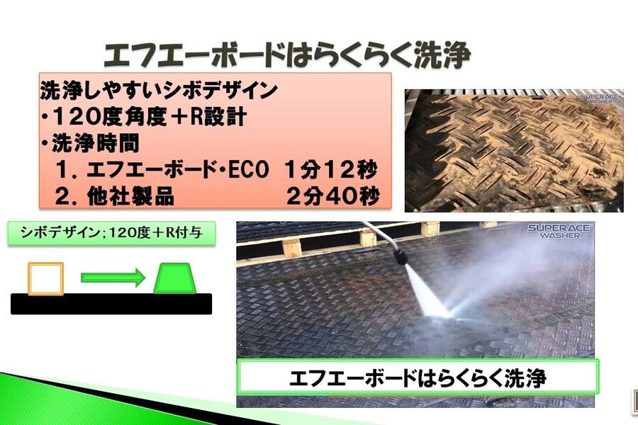 エフエーボード・ECOはらくらく洗浄可能製品です。