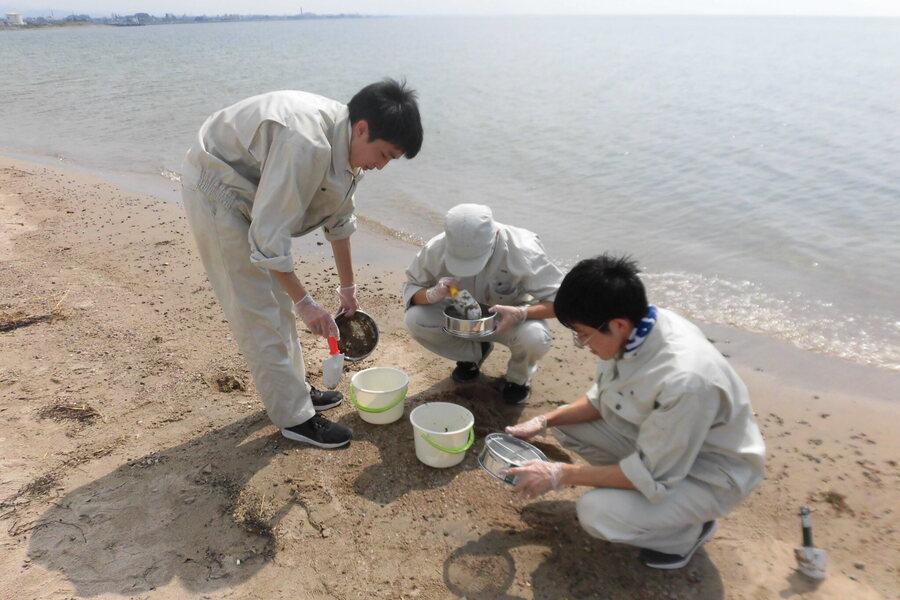 海洋プラスチックの調査