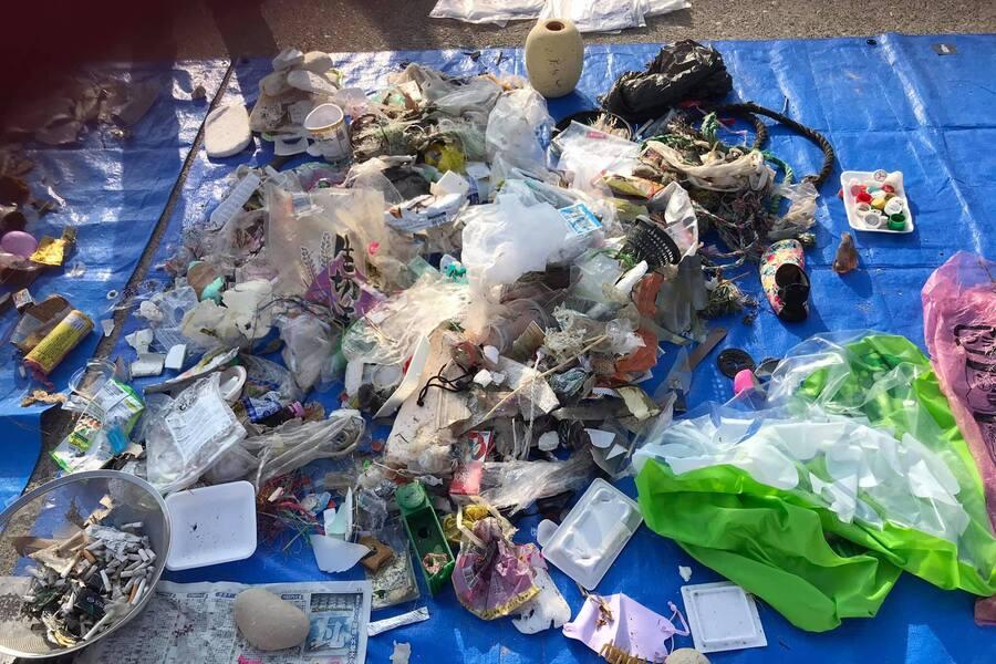 種類分け出来ないプラスチックごみなど