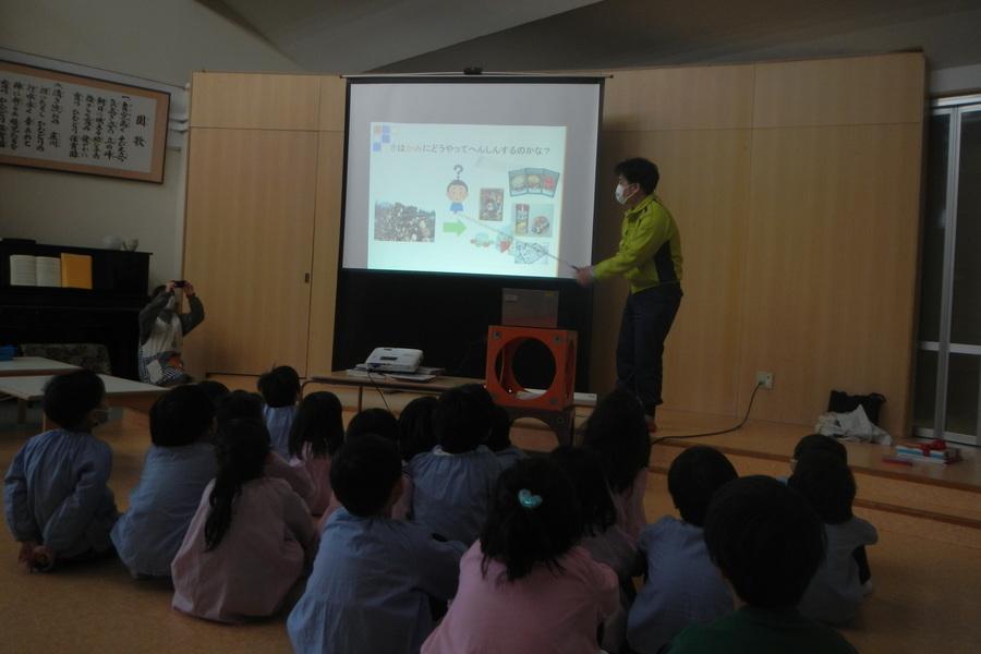 保育園での環境教室の様子