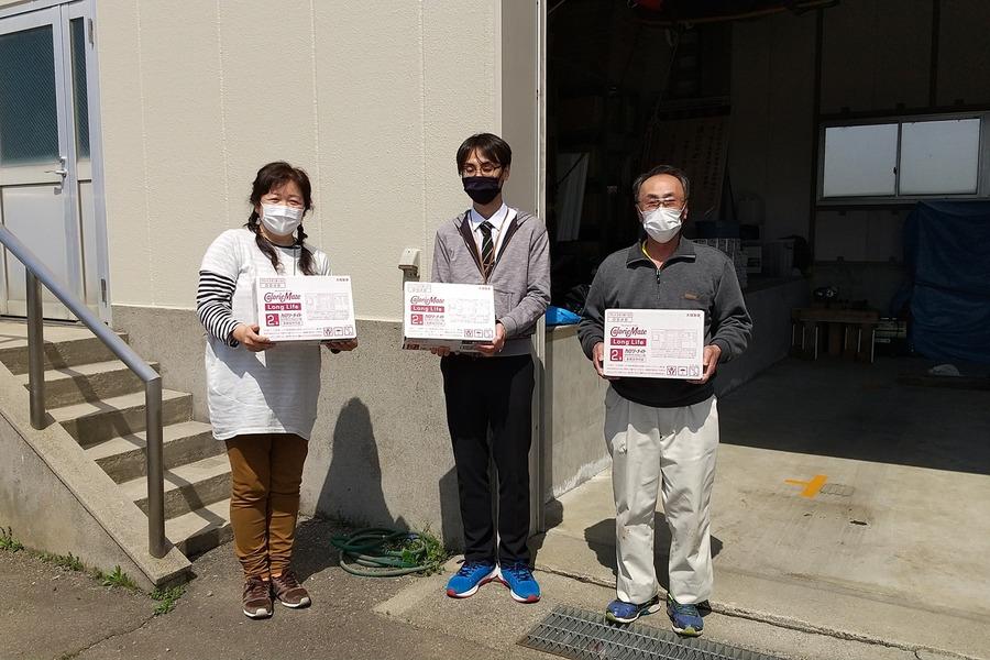 滑川市役所様より防災備蓄品の寄付をいただきました、ありがとうございます。