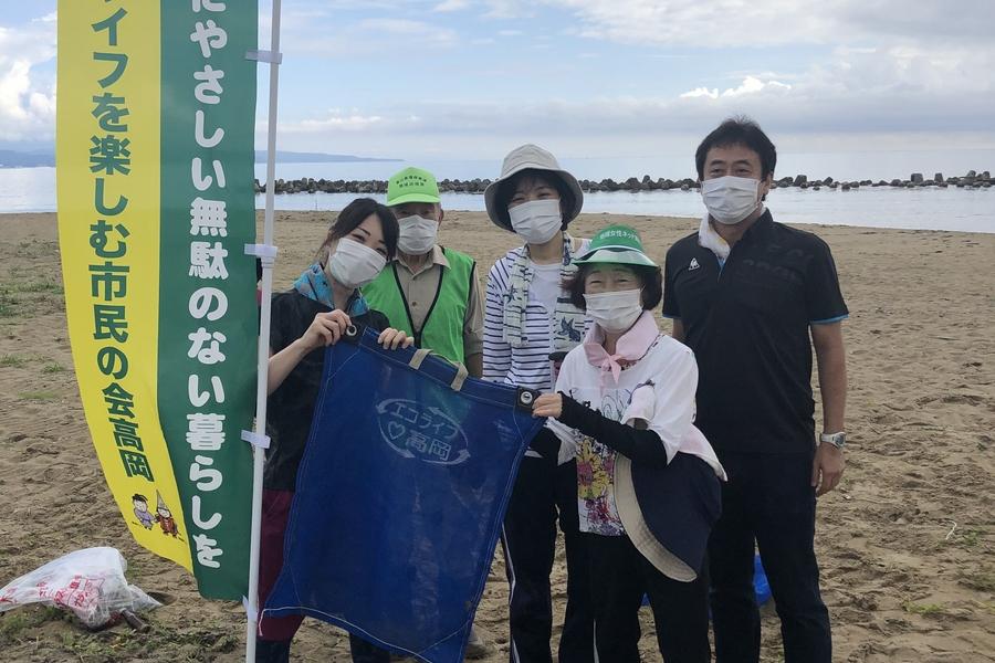 「プラネット」を使って海岸清掃を行いました