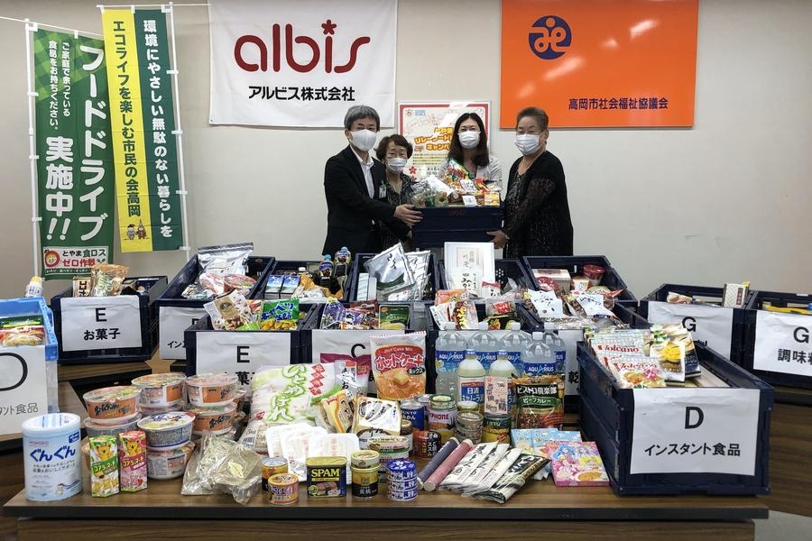 【フードドライブ】集めた食品は社会福祉協議会へ贈呈しました